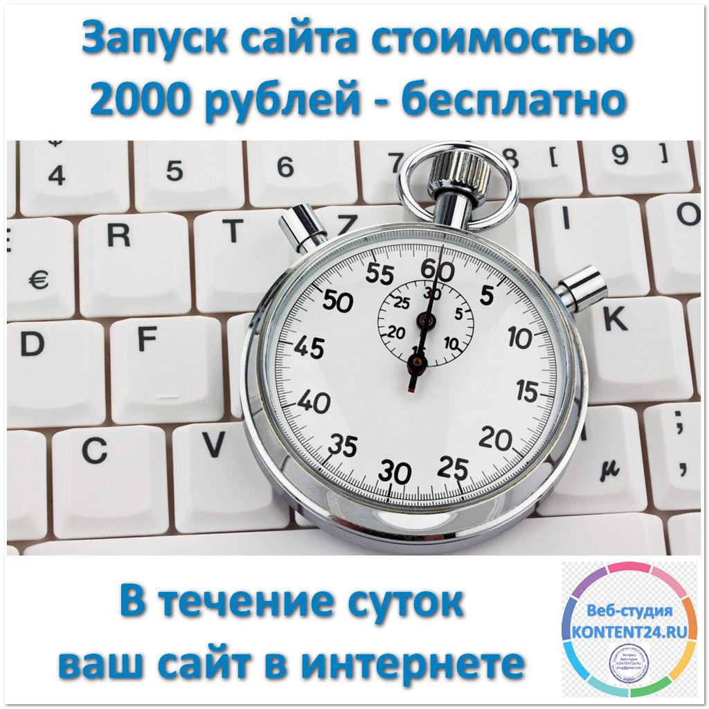 Запуск сайта бесплатно - В течение суток - AVIKTO.RU